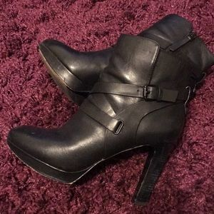 Vince Camuto Buckled strap boots